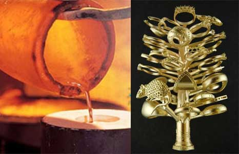 Pouring gold gold jewelry tree.jpg